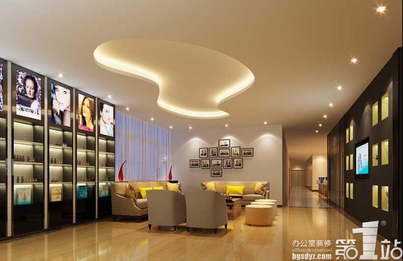 广州康斯薇化妆品厂房办公室设计二层展示区角度二效果图