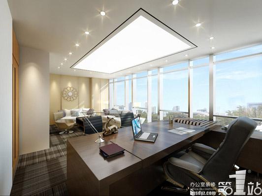 最佳办公环境广州办公室装修案例总经理办公室效果图01
