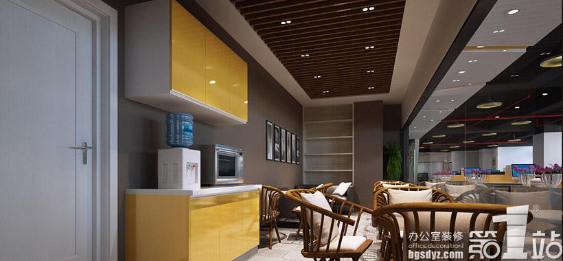 广州朗琴广告有限公司办公室装修设计餐厅效果图