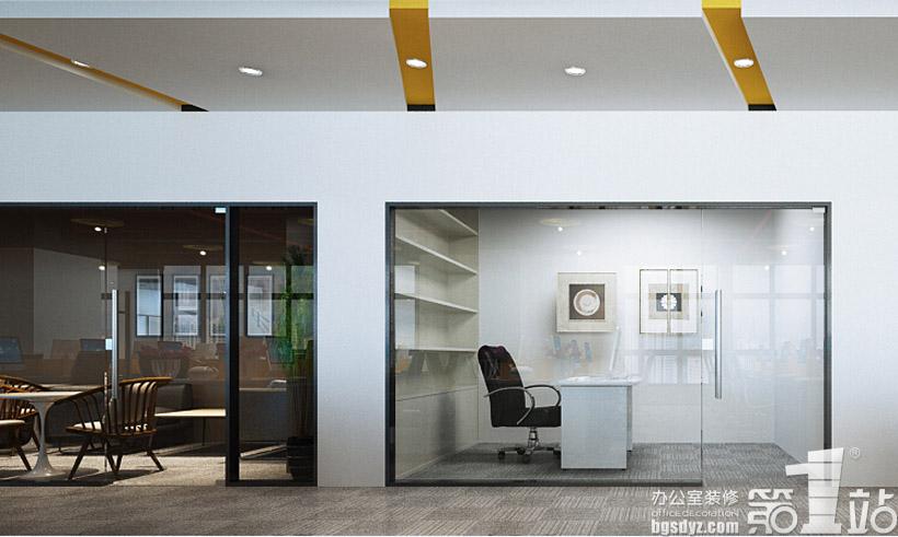 廣州朗琴廣告有限公司辦公室裝修設計效果圖