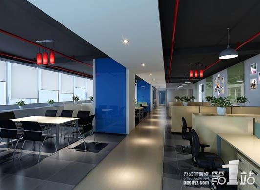 创新小空间办公室设计案例02效果图