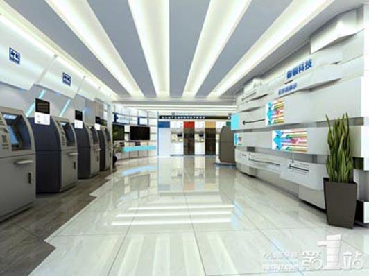 御银公司办公室装修设计方案效果图