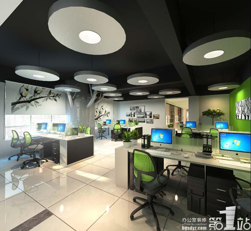粤富来鲜果有限公司办公室装修设计案例