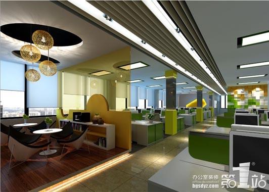 简约清爽的广州办公室装修设计 像家一样舒适