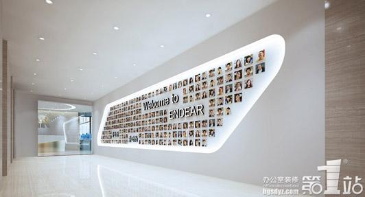 最时尚的广州办公装修-形象墙效果图
