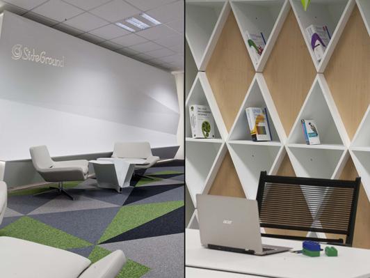 这是一个最炫酷的创意广州办公室设计,集齐了生活、工作、休闲、游戏等设计创意思想念,表现完美的现代休闲时尚办公空间,倡导绿色、休闲、健康、高效的办公理念。  广州办公室设计创意方案  广州办公室设计创意方案 暖色的墙面设计,瞬间让这个办公空间有了温暖的感觉,其它的广州办公室设计几乎忽略了这个这个重点,企业的品牌文化也在设计中得到了体现。  广州办公室设计创意方案  广州办公室设计创意方案 设计师利用空间几何原理,用形状和颜色把整个空间紧密地连接在一起,各种创意形状的装饰,表现得非常炫酷。  广州办公室设计创