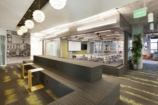 网络信息科技公司办公室设计风格方案图纸