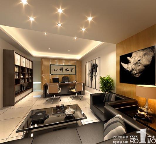 5套完整的公司办公室装修3d效果图(高清图)
