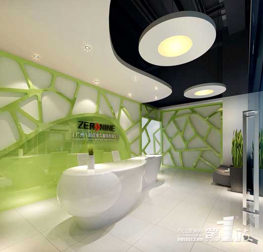 5套完整的公司办公室装修3d效果图 高清图高清图片