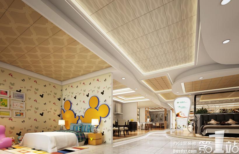 广州欧斯宝金属制品公司展厅设计效果图角度1