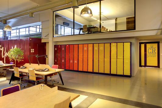 前卫风格办公室装修设计效果图