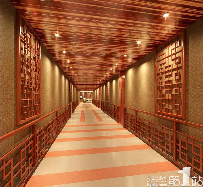 广州仁慈医院体检中心设计三层公共区走廊A效果图-广州仁慈医院体