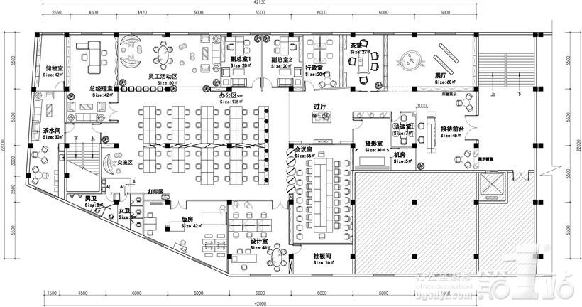 品立男装广州案例办公室室内装修设计总部,广红点奖包装设计说明图片