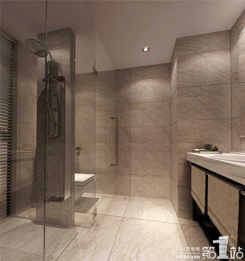 香江酒店单人房卫生间效果图