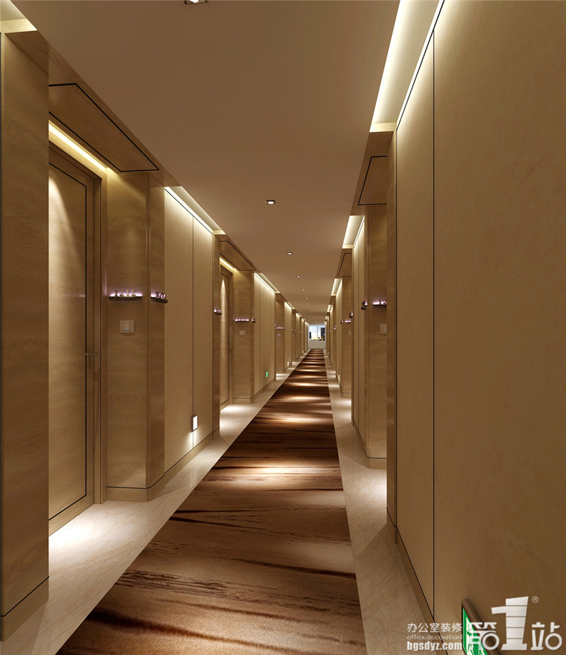 宾馆走廊壁纸素材