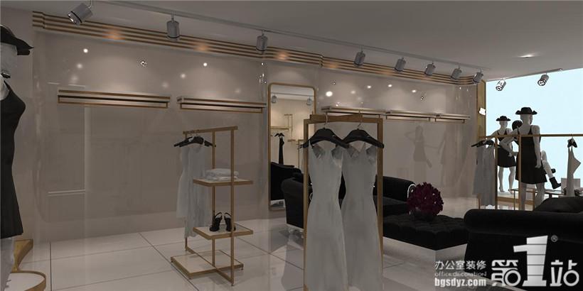 amnt女装店铺设计案例,广州办公室装修第一站_康联公装