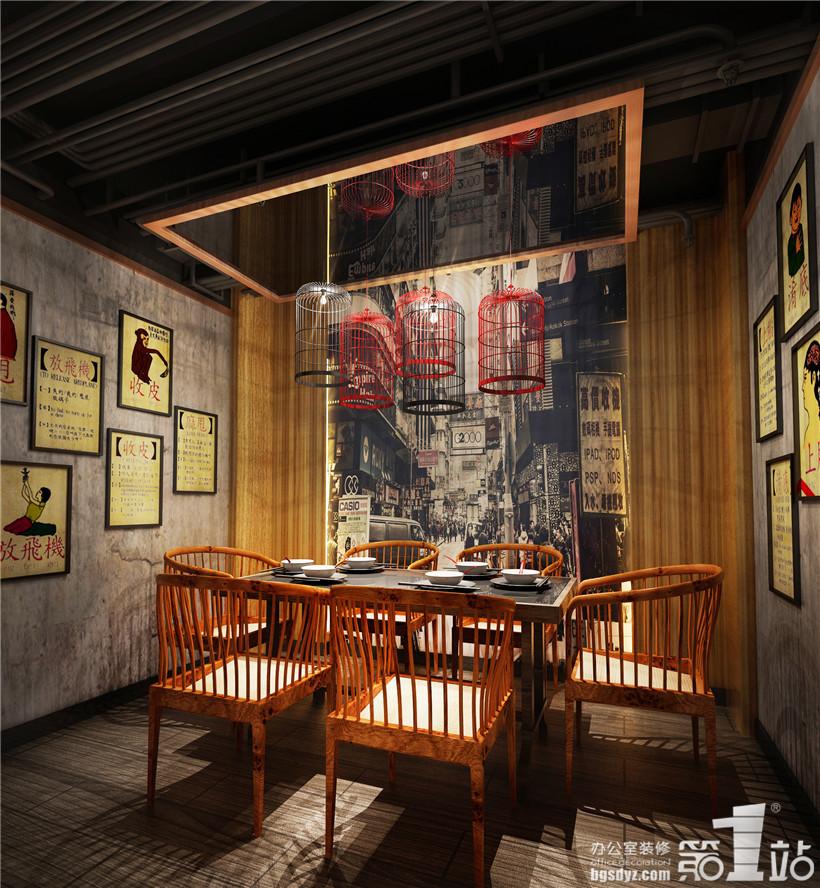 餐厅设计三楼包厢效果图