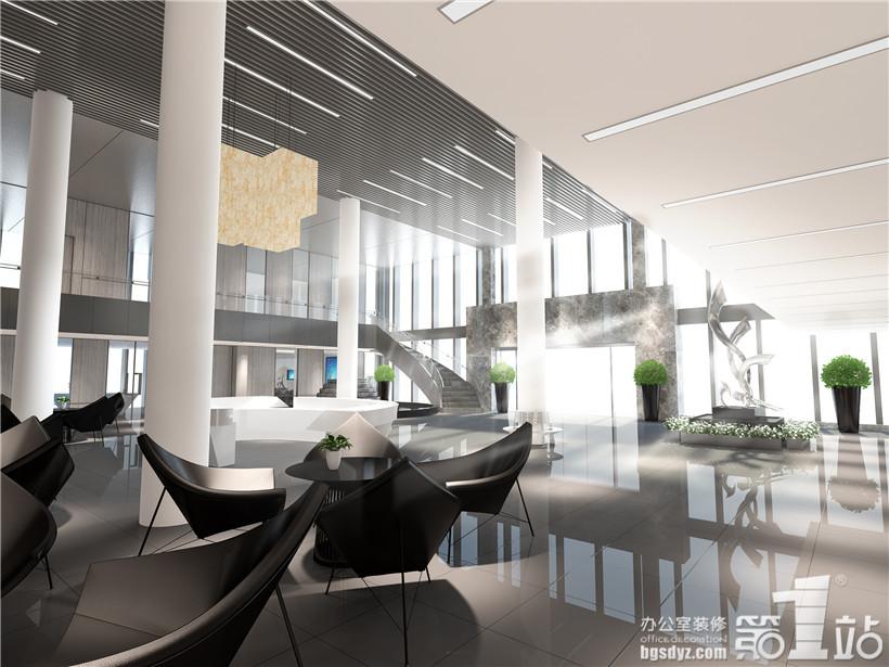 办公室设计一楼大堂效果图二