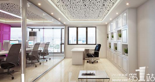 欣卓服饰小型办公室装修总经理室装修效果图