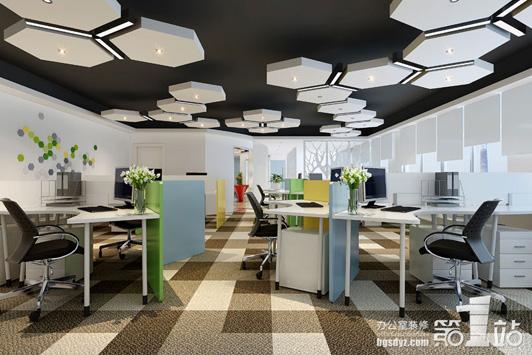 创艺设计办公室装修办公区效果图