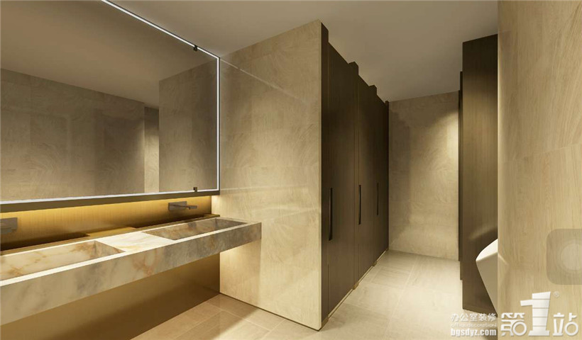中星办公室设计卫生间效果图